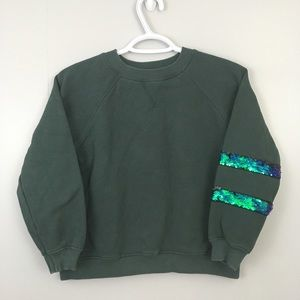 NEW! Zara Girls Glitter Sweatshirt Size 10